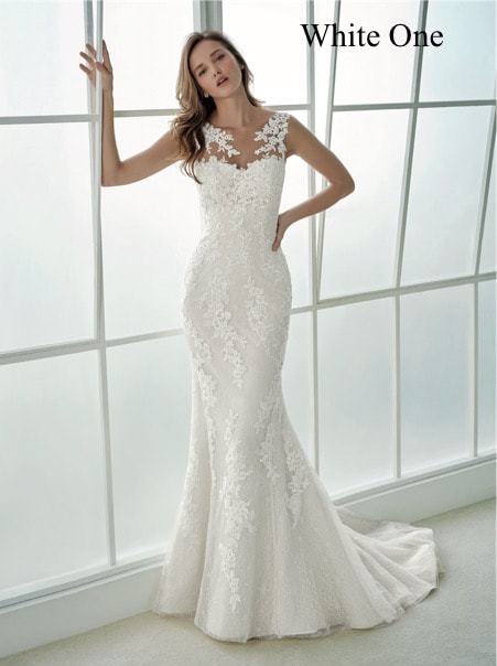 White one wedding dress